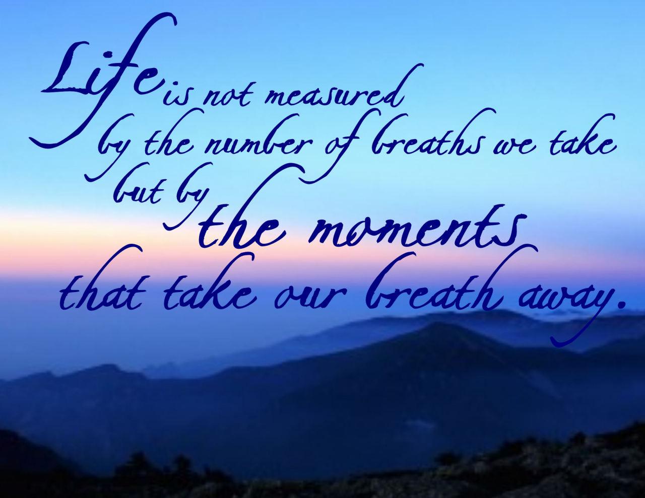 Take someone s breath away